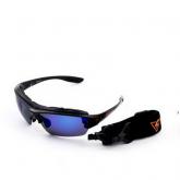 Очки Kiteflash Mauritius Brilliant Black Amalgam lenses blue