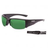 Очки Ocean GUADALUPE матовые черные / зеркально-зеленые линзы