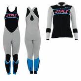 Гидрокостюм женский длинный без рукавов+гидрокуртка на молнии Jetpilot Matrix Race Jane and Jacket wms. Grey/Blue 2020